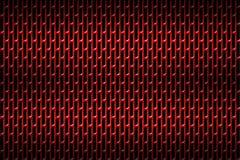 Красный гриль хрома Предпосылка металла Стоковая Фотография RF