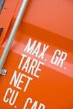 Красный грузовой контейнер Стоковая Фотография RF