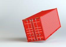 Красный грузовой контейнер на серой предпосылке иллюстрация штока