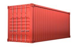 Красный грузовой контейнер иллюстрация вектора