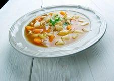 Красный густой суп раковины Стоковые Фотографии RF