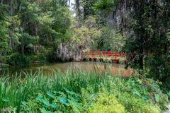 Красный гуляя мост Стоковое Изображение