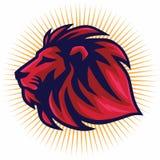 Красный дизайн логотипа вектора льва Стоковое Изображение RF
