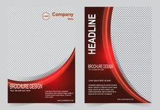 Красный дизайн рогульки шаблона брошюры бесплатная иллюстрация