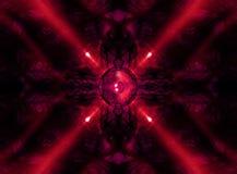 Красный диктор музыки калейдоскопа Стоковые Фотографии RF