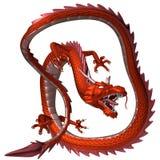 Красный дракон, иллюстрация 3D стоковая фотография rf