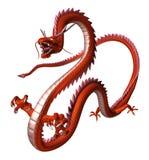 Красный дракон, иллюстрация 3D стоковое изображение rf