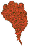 красный дым иллюстрация штока