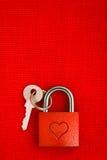Красный день валентинок замка влюбленности Стоковые Изображения RF