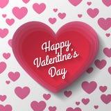 Красный день валентинок сердца Стоковые Фото