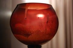 Красный держатель для свечи Стоковые Изображения