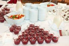 Красный десерт Стоковое фото RF