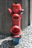 Красный жидкостный огнетушитель Стоковые Изображения
