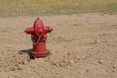 Красный жидкостный огнетушитель Стоковые Фото