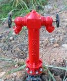 Красный жидкостный огнетушитель Стоковое фото RF