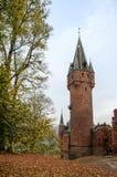 Красный замок в Hradec nad Moravici, чехии Стоковая Фотография RF