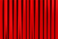 Красный занавес на этапе театра или кино также вектор иллюстрации притяжки corel иллюстрация вектора