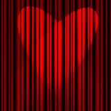 Красный занавес театра Стоковое Изображение RF
