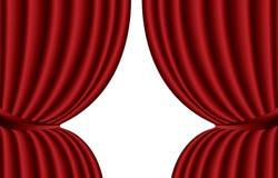 Красный занавес театра Стоковое Фото