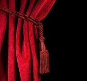 Красный занавес театра Стоковая Фотография