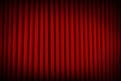Красный занавес театра Стоковые Изображения RF