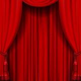 Красный занавес Стоковые Фото