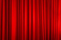 Красный занавес Стоковые Фотографии RF