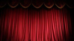 Красный занавес Стоковое Фото
