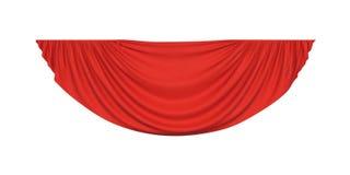 Красный занавес drapery pelmet бесплатная иллюстрация