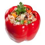 Красный заполненный перец Стоковые Фото