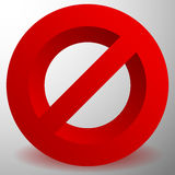 Красный запрет, знак ограничения - сброс, закрыл, никакое entran Стоковая Фотография RF