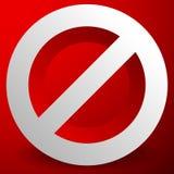 Красный запрет, знак ограничения - сброс, закрыл, никакое entran Стоковые Фотографии RF