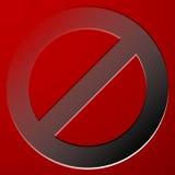 Красный запрет, знак ограничения - сброс, закрыл, никакое entran Стоковые Изображения RF