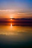 красный заход солнца Стоковые Фотографии RF