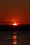 красный заход солнца Стоковое Фото