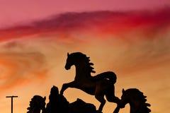 Красный заход солнца Стоковые Фото