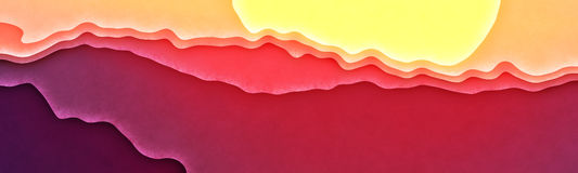 Красный заход солнца 2 Стоковое фото RF