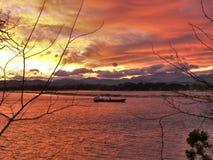 Красный залив Стоковые Изображения
