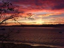 Красный залив Стоковая Фотография