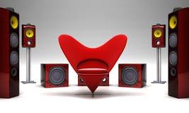 Красный звук иллюстрация вектора