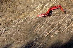 Красный землекоп в камн-яме Стоковые Изображения RF