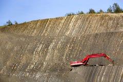 Красный землекоп в камн-яме Стоковое фото RF
