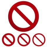 Красный знак вектора запрета Предупреждая круг и линия символ r бесплатная иллюстрация