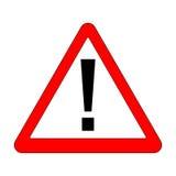 Красный знак возгласа - дорожный знак треугольника опасности бесплатная иллюстрация
