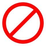 Красный знак запрета Не позволить значку также вектор иллюстрации притяжки corel бесплатная иллюстрация