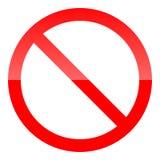 Красный знак запрета Не позволить значку также вектор иллюстрации притяжки corel иллюстрация штока