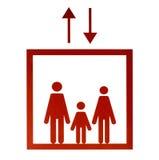 Красный знак лифта Стоковые Фотографии RF