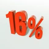 Красный знак процентов Стоковое Изображение RF