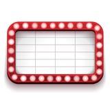 Красный знак театра Стоковое фото RF