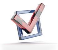 Красный знак тикания Стоковые Фотографии RF
